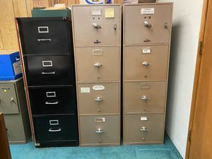 Fire Proof with locking key 4 Drawer File Cabinets for Sale in Whittier, CA