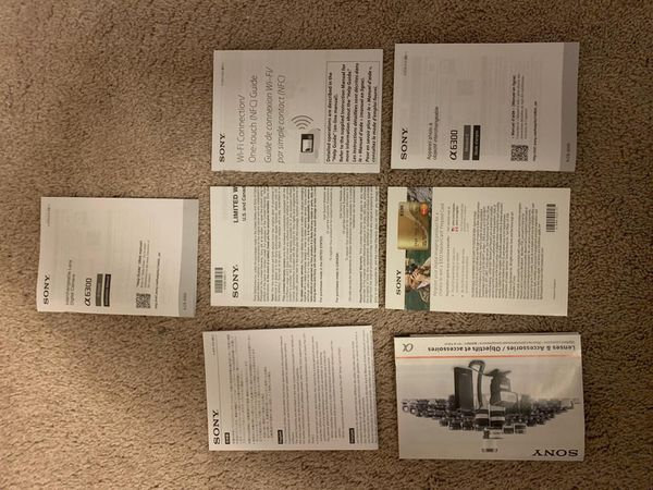 New-Never Used-Sony A6300 4K Body and 16-50 OSS Lens