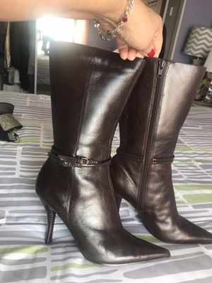 🦃🦃$25 Excellent Condition Sz 7 Nine West Brown Leather for Sale in Fontana, CA