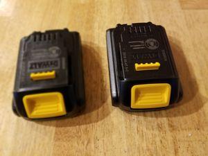 2 new dewalt batteries- both $75 for Sale in Lakewood Township, NJ