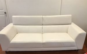 White leather couch set great condition for Sale in Philadelphia, PA