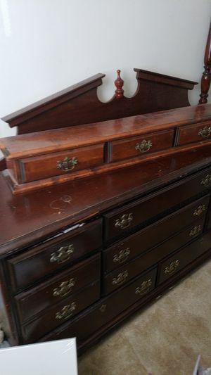 Cherry wood bedroom set 5 piece set for Sale in Philadelphia, PA
