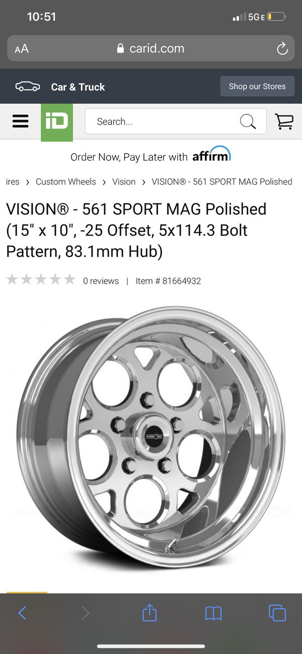 Vision rims and tires