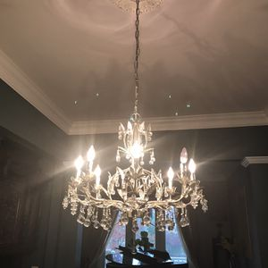Show stopping Luxury 8 Lights Real Crystal Chandelier for Sale in Bethesda, MD