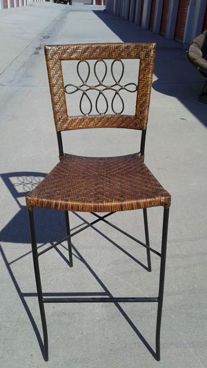 Nice Rod Iron and Ratan bar stool! for Sale in Redlands, CA