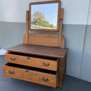 Vintage 2 Drawer Dresser with movable mirror for Sale in Pico Rivera, CA