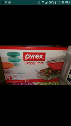 Pyrex simply store new 18 pieces for Sale in Raleigh, NC
