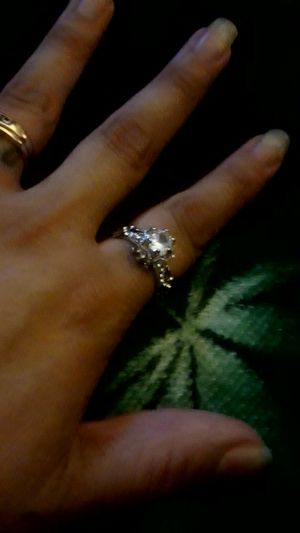 Wedding ring size 7 striling silver and cubiczorconia for Sale in Mesa, AZ