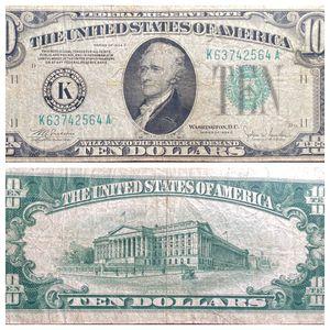 Series of 1934 C Dallas United States Federal Reserve $10 Note for Sale in Batavia, IL