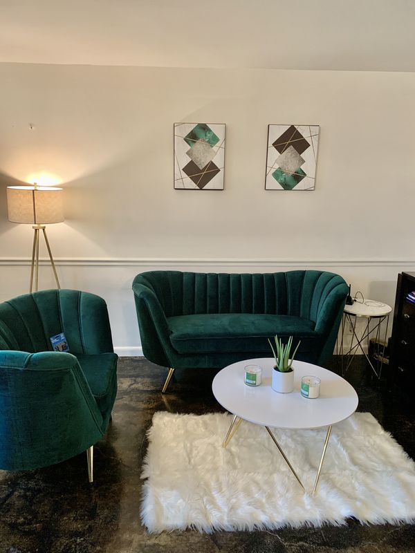 Emerald Green Couch