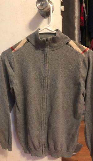 Grey Burberry zip up jacket. for Sale in Bellflower, CA