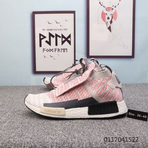 Adidas Originals NMD Mid pink light grey black white Womens Winter Running Shoes for Sale in Salt Lake City, UT