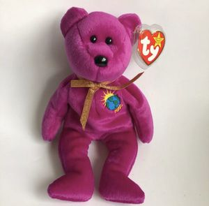 Vintage Ty Beanie Babies Collectible 2000 Millennium Purple Bear for Sale in Pompano Beach, FL
