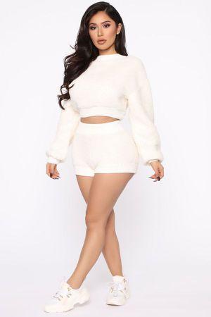 Fashion Nova Teddy Bear Set / Cozy Outfit / Shorts Set for Sale in Los Angeles, CA