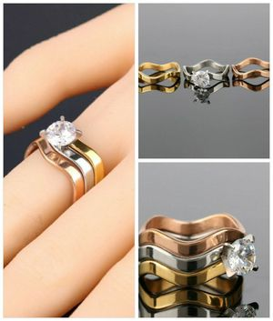 Sale. 3 pieces set rose gold silver rings for Sale in Denver, CO