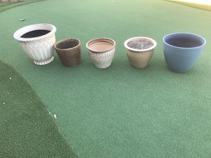 Variety of decorative pots for indoors or outdoors for Sale in Sun City, AZ