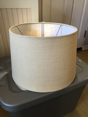(2) Linen colored lamp shades for Sale in San Diego, CA