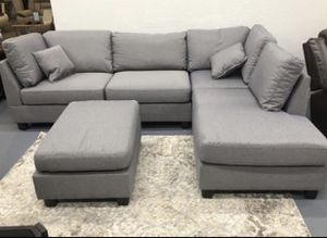 Grey Sectional Sofa (Like New) for Sale in Washington, DC