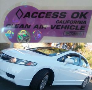 2010 Honda Civic GX 47k Mi CNG Purple Carpool Stickers Natural Gas NGV Clean Title for Sale in Corona, CA