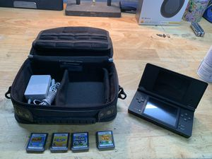 DSi with 4 games and case for Sale in Pottstown, PA