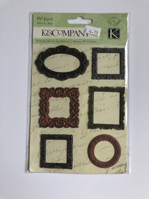 K & Company Life's Journey Metal Art Frames - Craft or Scrapbook Supplies for Sale in Seattle, WA