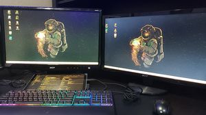 2 Acer Monitors $120. Good condition. for Sale in Victorville, CA