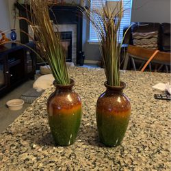 2 Mini Vases With Fake Plants for Sale in Anderson,  SC