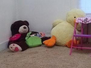 Jumbo teddy bear and duck for Sale in Abilene, TX
