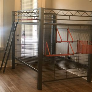 Full Size Bunk Bed With Orange Accessories for Sale in Durham, NC