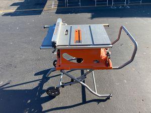 """Rigid 10"""" table saw for Sale in Montebello, CA"""