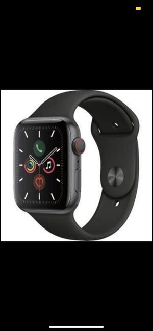 Apple Watch Series 5 (GPS + Cellular) 44mm Space Gray Aluminum Case with Black Sport Band - Space Gr for Sale in Miami, FL