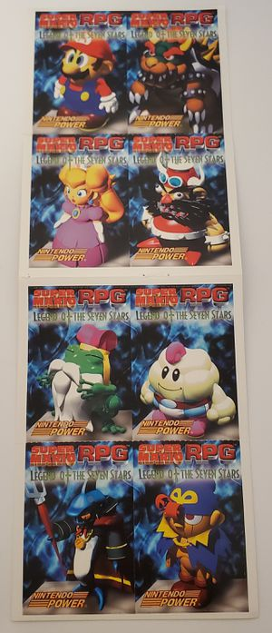 Lot of 8 Super Mario RPG Cards Nintendo Power 1996 Rare for Sale in St. Petersburg, FL