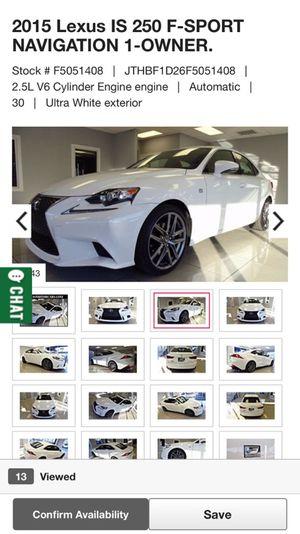 2015 Lexus IS250 F sport for Sale in Houston, TX
