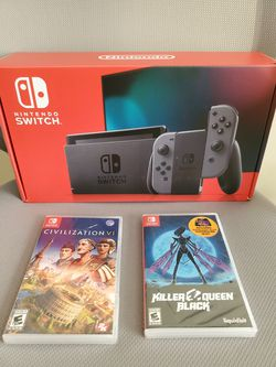 Nintendo Switch V2 Grey with Games (Brand New) for Sale in Orlando,  FL