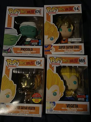 Dragon ball z funko pop set for Sale in South Gate, CA