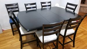 Solid wood Expandable table with 6 chairs for Sale in Ridgefield Park, NJ