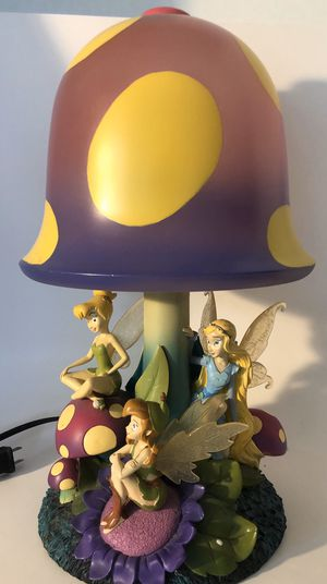 🙋‍♀️ Collector Items - Tinkerbell Lamp, Clock and Lucite Cubes. for Sale in Pembroke Pines, FL