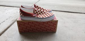 Brand New Classic Vans Slip On Checkboard Checkered Red Shoe for Sale in Corona, CA
