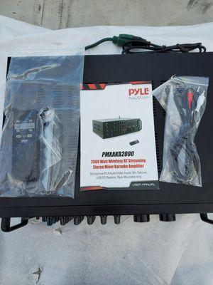 Plye 2000W stereo mixer karaoke amplifier for Sale in Bellflower, CA