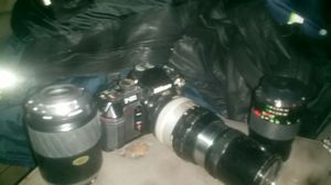 Nikon f - 501 with telephoto lens and two extra lenses for Sale in Phoenix, AZ