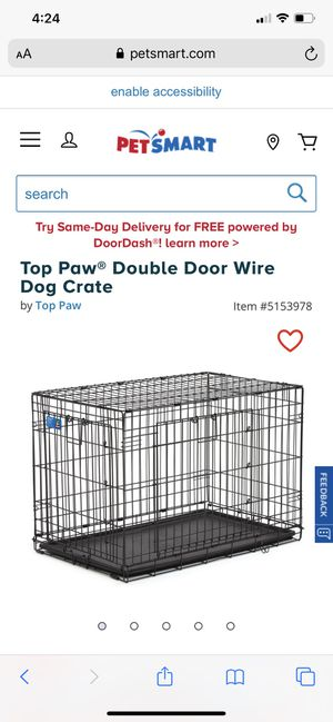 Top paw dog crate for Sale in Naperville, IL