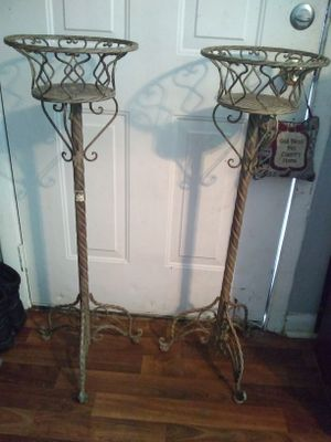 Two metal plant stands for Sale in Nashville, TN