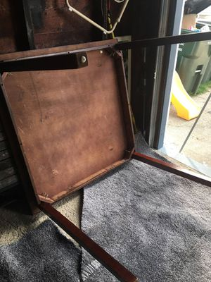 Brown wooden table with 3 chairs for Sale in Valley View, OH