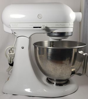 White KitchenAid KSM90 300W Ultra Power Stand Mixer tested and works for Sale in Tacoma, WA