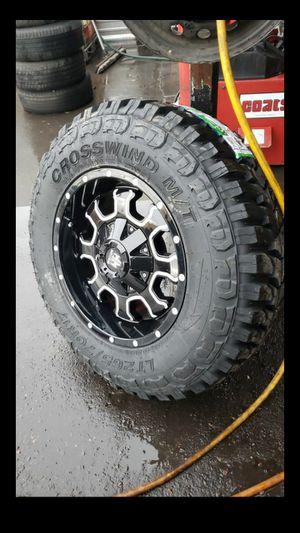 Black friday especia only 1 set 17x9 mayhem rims 5 lug 5x127 5x4.5 whit New MUD tires 265 70 17 for Sale in Phoenix, AZ