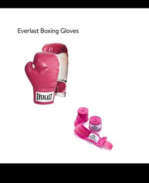 PINK EVERLAST BOXING GLOVES & WRIST/HAND WRAPS for Sale in Oroville, CA