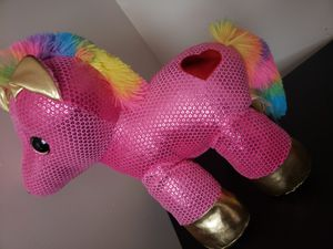 Pink unicorn plushie for Sale in Elizabeth, NJ