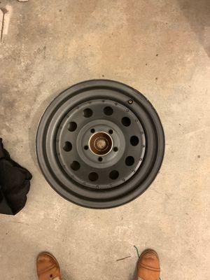 Steel wheels (off my Jeep Wrangler) Black) for Sale in Carlsbad, CA