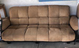 Beige clean futon for Sale in Bakersfield, CA