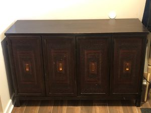 Hutch/Tv Stand Pier1 Imports solid wood heavy beautiful doors for Sale in Jackson Township, NJ